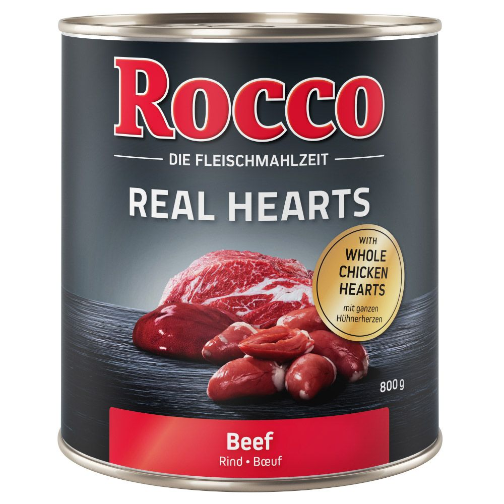 Chicken with whole Chicken Hearts Real Hearts Rocco Wet Dog Food
