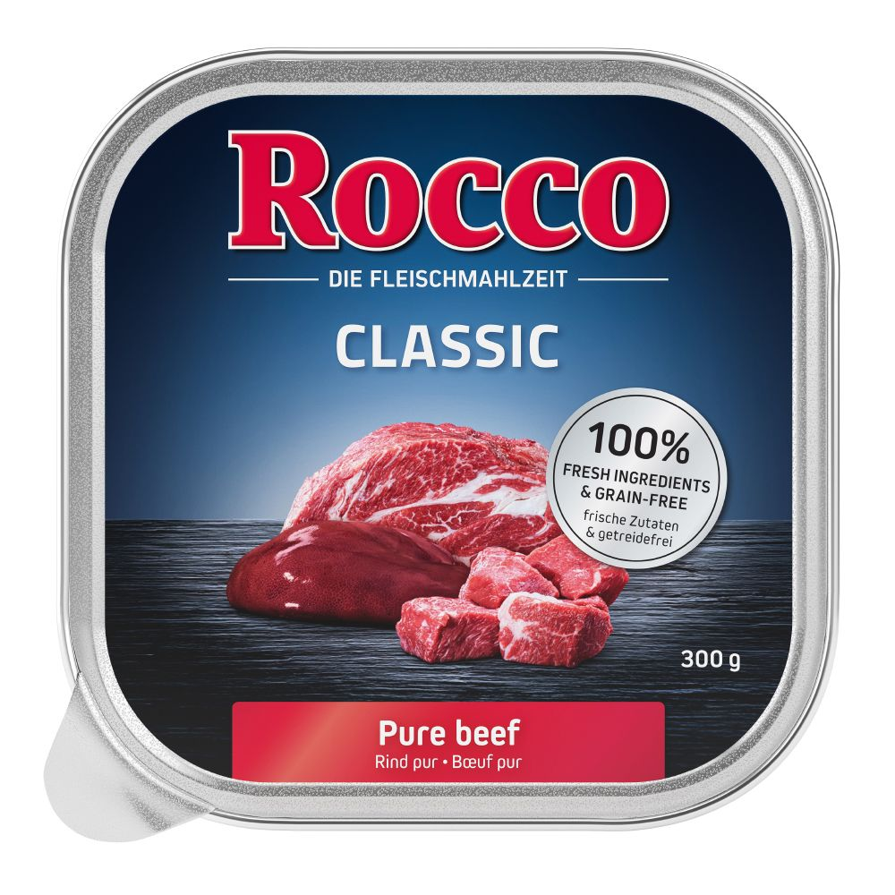 18 x 300g Rocco Classic Trays Wet Dog Food
