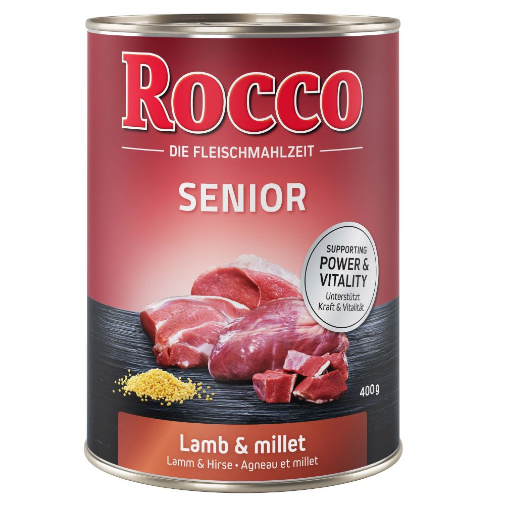6x400g Senior Lamb & Millet Rocco Wet Dog Food