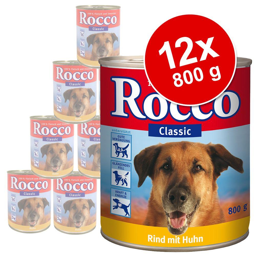 Sparpaket Rocco Classic 12 x 800 g - 2 Sorten im Mix: Rind pur, Seelachs