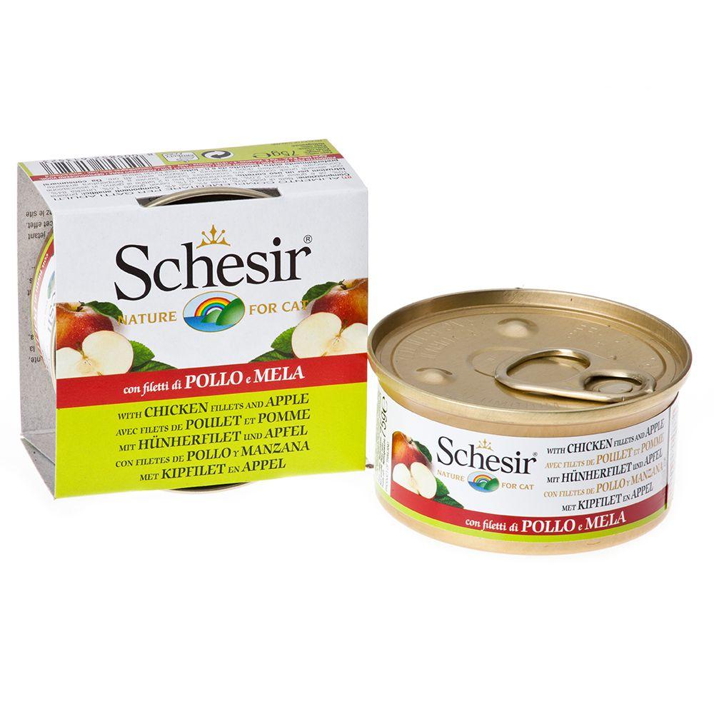 Schesir Fruit 6 x 75 g – Tonfisk & papaya
