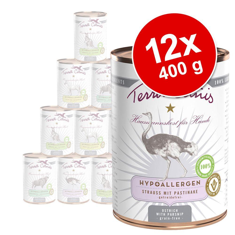 Sparpaket Terra Canis Hypoallergen 12 x 400 g -...