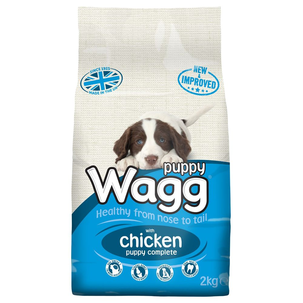 12kg Wagg Complete Puppy + 3 x Wagg Puppy Treats Free