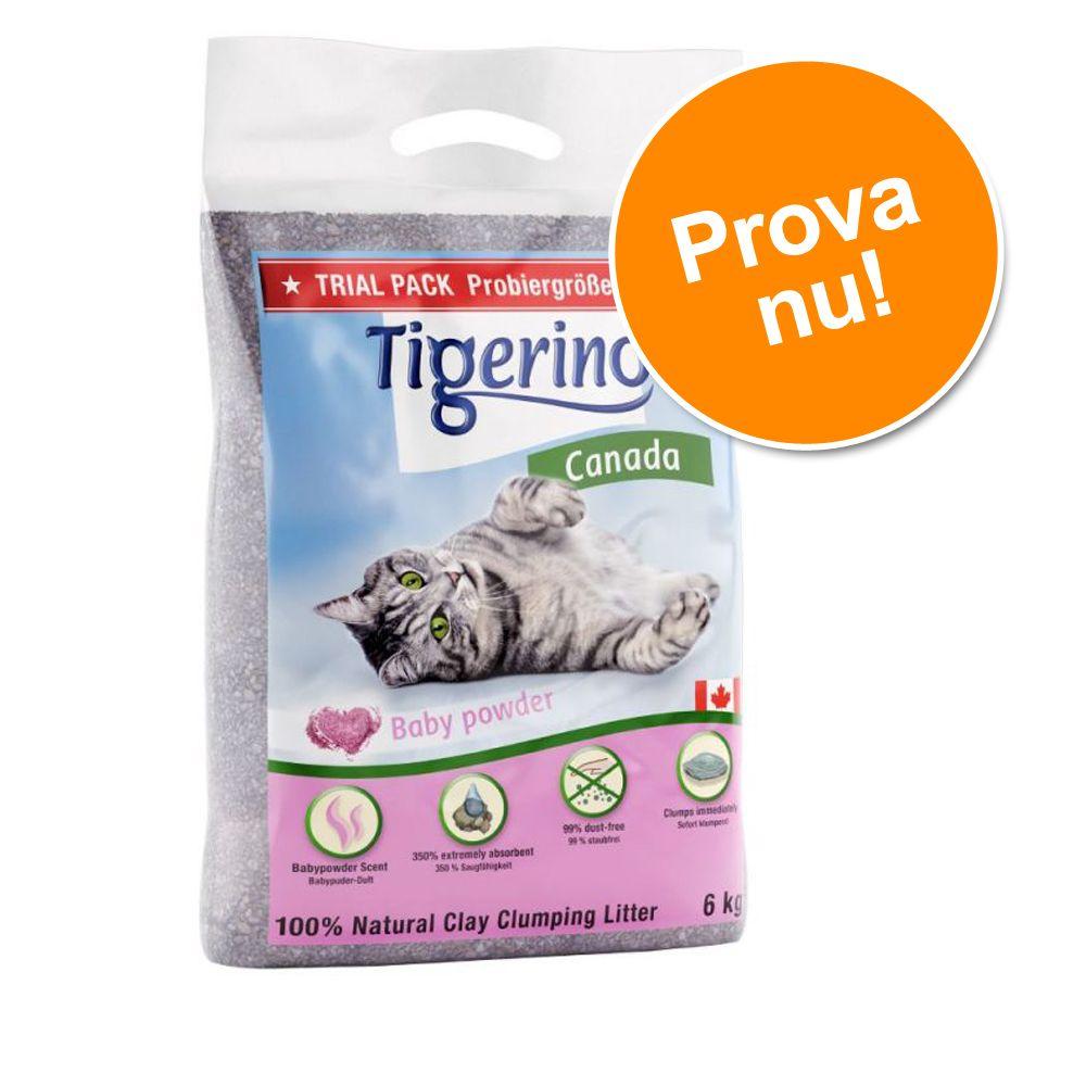 Provpack: Tigerino Canada kattströ - Babypuderdoft - 6 kg (ca 14 l)