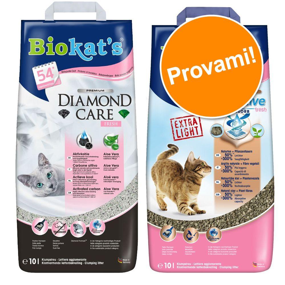 Image of Set prova misto! 2 x 10 l Lettiera Biokat's Diamond Care - 20 l