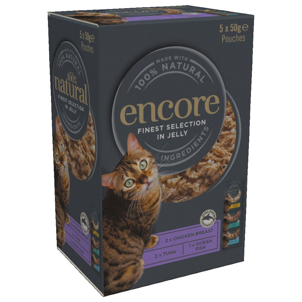 5 x 50g Encore Cat Jelly Pouch Multipack