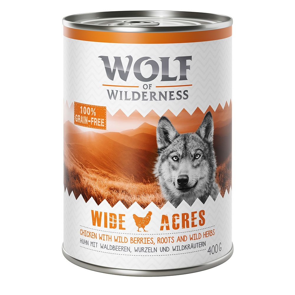 Adult 3 Varieties Mixed Pack Wolf of Wilderness Wet Dog Food