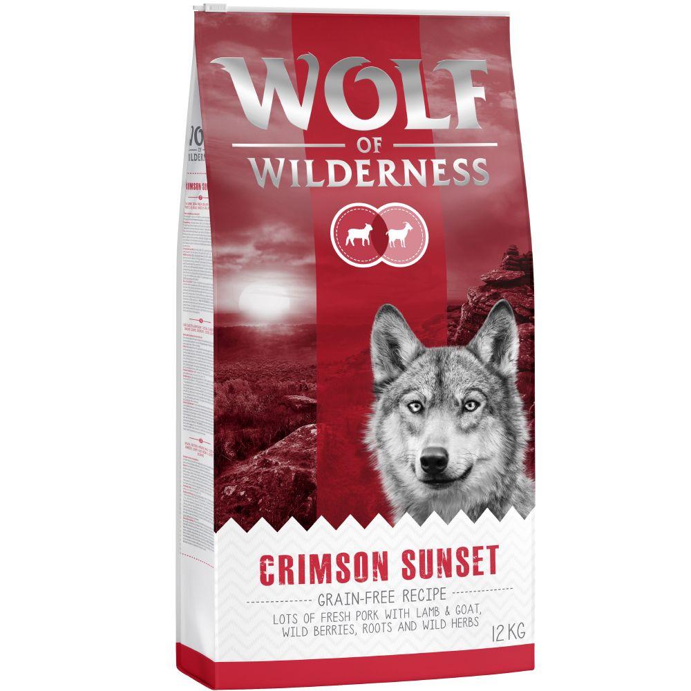 """Wolf of Wilderness """"Crimson Sunset"""" – karitsa & vuohi - Säästöpakkaus 2 x 12 kg"""