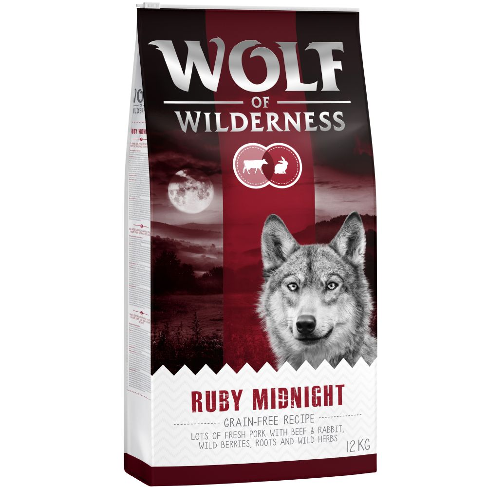 1kg Wolf of Wilderness Ruby Midnight bœuf, lapin - Croquettes pour chien