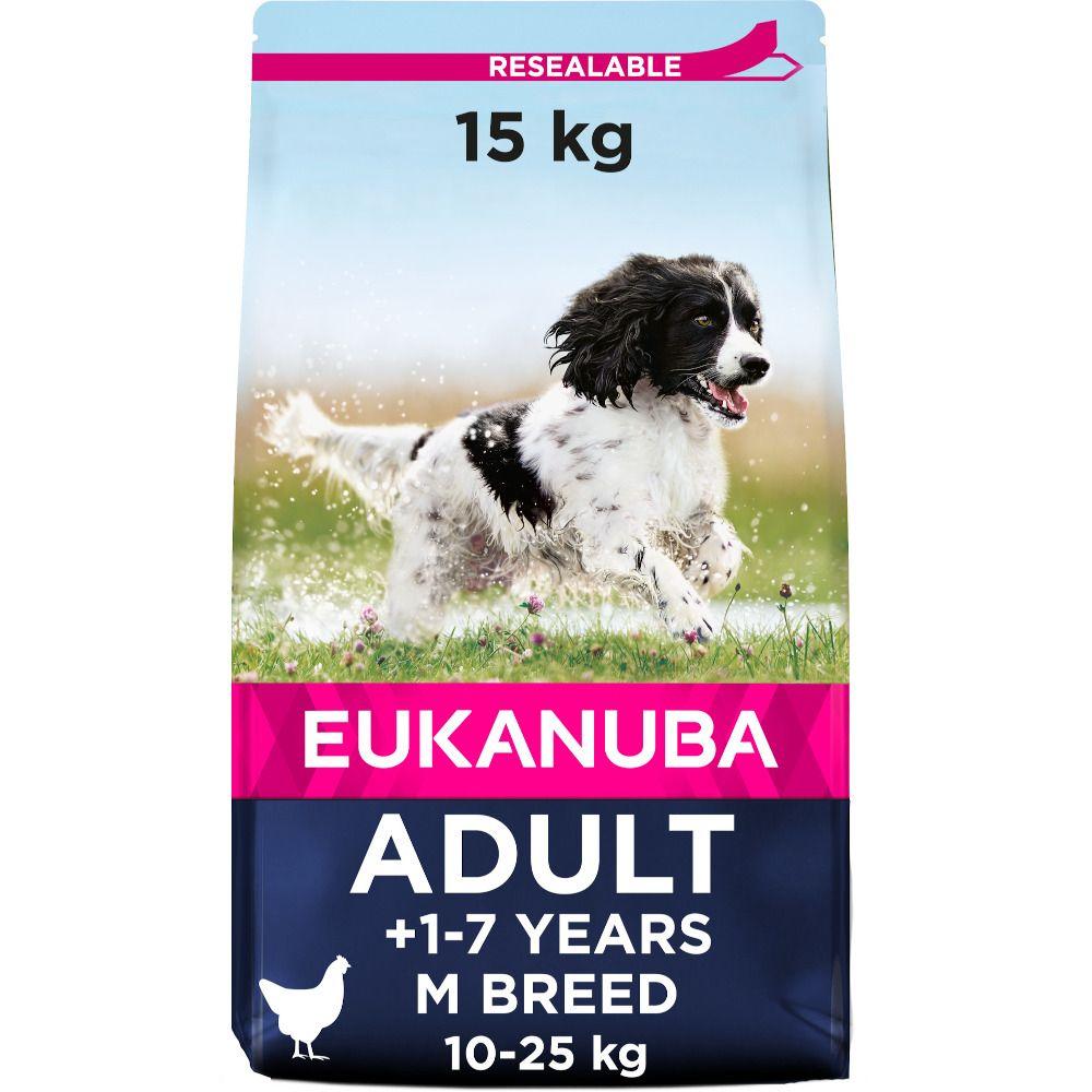 Eukanuba Active Adult Medium Breed - Chicken - Economy Pack: 2 x 15kg