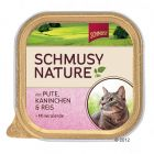 INOpets.com Anything for Pets Parents & Their Pets Schmusy Nature Trays 12 x 100g - Chicken, Salmon, Pasta & Brewer's Yeast