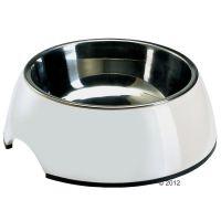 Ciotola hunter bianca interno estraibile in acciaio - - 0,35 l, 㘠14 cm.