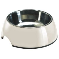 Hunter Melamine Cat Bowl - White - 0.35 litre