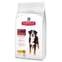 Large Bags Hills Science Plan Dry Dog Food + Trixie Rubber Ball with Throwing Handle Free!* - Adult Advanced Fitness - Lamb & Rice (12kg)