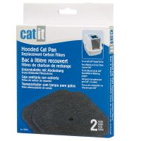 Catit White Tiger Litter Box - 2 x 2 Replacement Carbon Filters