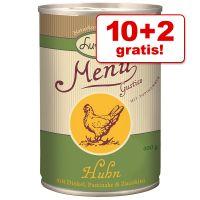 10 + 2 gratis! Lukullus Menu Gustico 12 x 400 g - Rund Sensitive met Pastinaak, Spirulina & Teunisbloem
