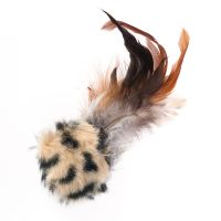Feather Ball with Microchip Squeak - 3 Toys