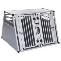 Aluline Double Dog Crate - Size XL: 92 x 97 x 68 cm (L x W x H)