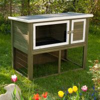 Outback Hutch Green with Run - 116 x 63 x 92 cm (L x W x H)