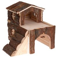 Two Storey Cabin for Small Pets - Guinea Pigs: 30 x 20 x 30 cm (L x W x H)