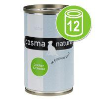 Cosma Nature Voordeelpakket Kattenvoer 12 x 140 g Kipfilet