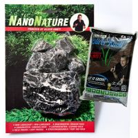 NanoNature Leopard Rock Set - 5 rocks + 3 litres NatureSoil brown, fine