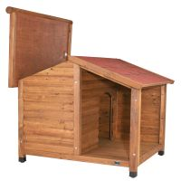 Trixie Natura Log Cabin with Porch Dog Kennel - Size M/L (2 packages*): 130 x 100 x 105 cm (L x W x H)