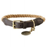 Hunter List Rope Collar - Beige - Size 50: 41-49cm neck circumference