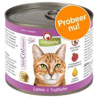 GranataPet Proefpakket Kattenvoer 6 x 200 g Proefpakket II