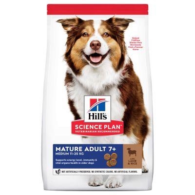 Hill's Science Plan Mature Adult 7+ Medium Lamb & Rice - 14 kg