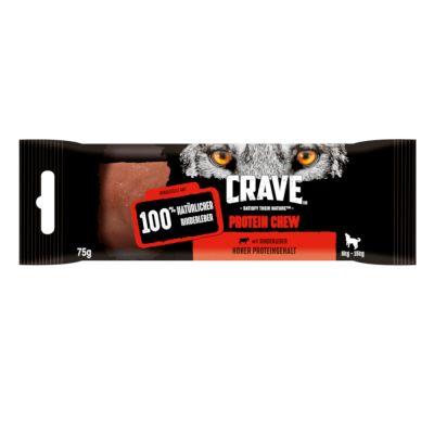 Crave Protein Chew snack para perros  - Vacuno 15 x 75 g - para perros de 6 a 15 kg - Pack Ahorro