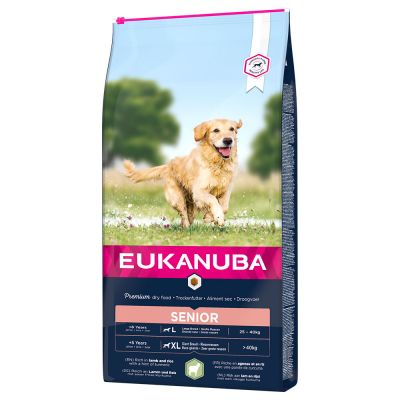 Eukanuba Senior Large & Giant Breed Lamb & Rice - säästöpakkaus: 2 x 12 kg