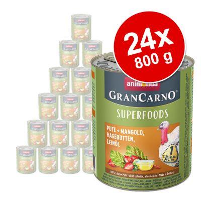 Animonda GranCarno Adult Superfoods 24 x 800 g - kuracie + špenát, maliny, tekvicové semiačka