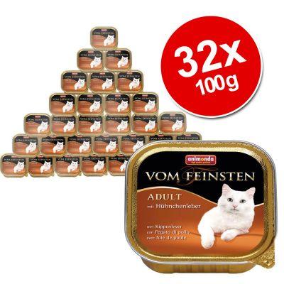 animonda-vom-feinsten-adult-voordeelpakket-32-x-100-g-met-kalkoenharten