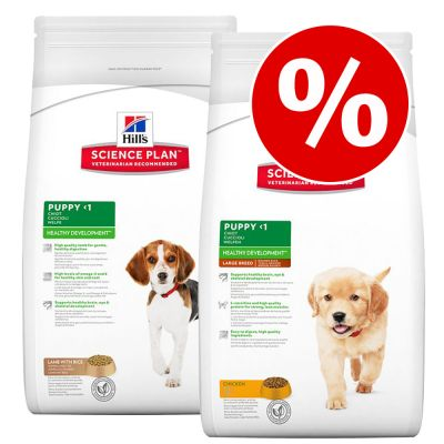 Hill's Canine Puppy -säästösekoitus - Puppy Lamb & Rice (12 kg) / Puppy Chicken (12kg)