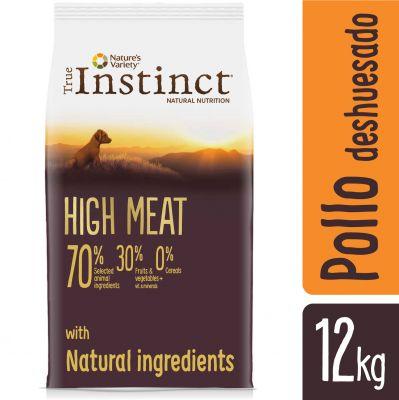 Nature's Variety True Instinct High Meat Junior Medium-Maxi pollo campero - 12 kg