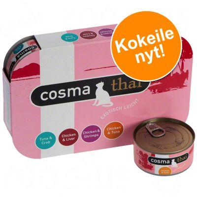 Cosma Thai -valikoima hyytelössä - 6 x 170 g Fruits-lajitelma: 6 makua