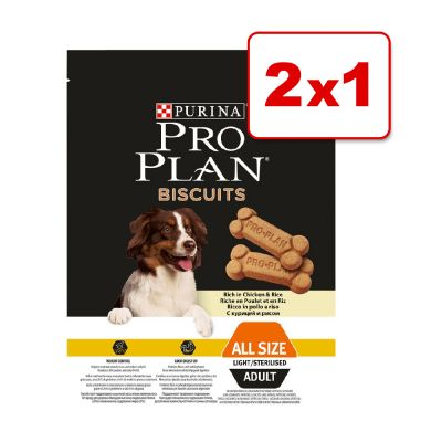 Purina Pro Plan galletas Light 2 x 400 g en oferta: 1 + 1 ¡gratis! - 2 x 400 g