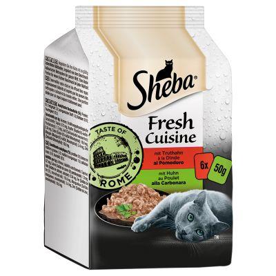 Sheba Fresh Cuisine Taste of Rome 6 x 50 g - kana & kalkkuna