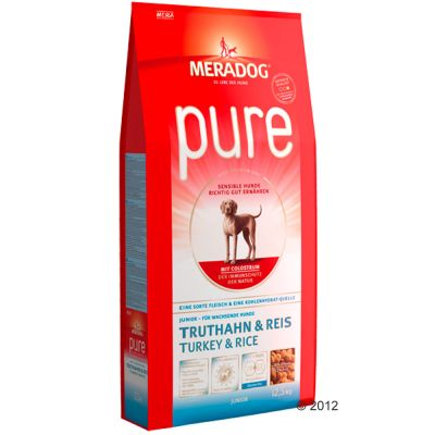 Meradog Pure Junior Turkey & Rice - 12,5 kg