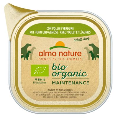 Image of Almo Nature BioOrganic Maintenance 12 x 100 g - Mix 2: Bio Huhn & Bio Gemüse + Bio Truthahn