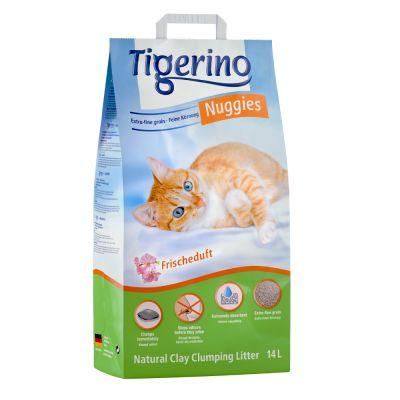 Tigerino Nuggies Ultra -kissanhiekka, raikkaantuoksuinen - 14 l