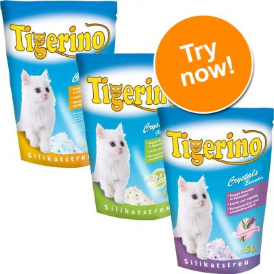 Tigerino Crystals Cat Litter Mixed Trial Pack 3 X 5 Litres - 3 Varieties