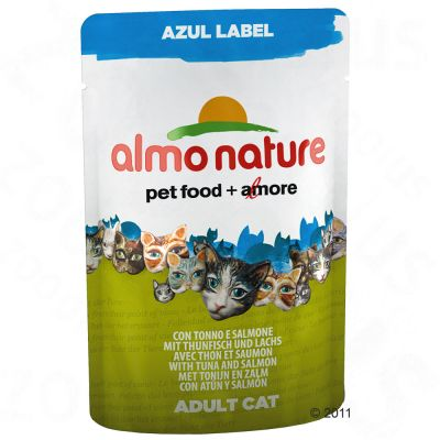 Almo Nature Azul Label in Pouches Kattenvoer 6 x 70 g Tonijn zalm