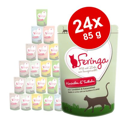 Feringa Pouch 24 x 85 g - ankka, vasikka & parsakaali