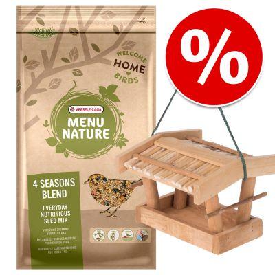 Paketti: Kitzbühel-lintulauta + 4 kg Versele Laga Menu Nature -linnunruokaa – setti: 2-osainen