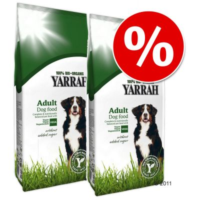 Ekonomipack: Yarrah Organic hundfoder till lågpris! - Vegetariskt / vegant (2 x 10 kg)