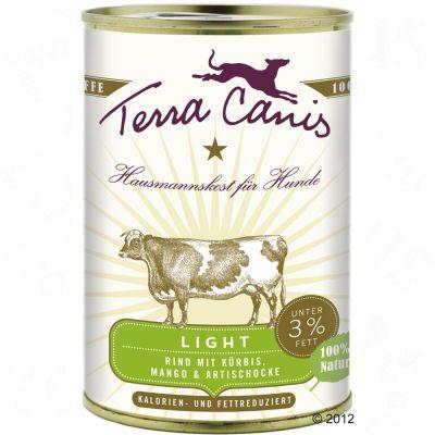 Terra Canis Light 6 x 400 g - Nötkött med pumpa, mango och kronärtskocka