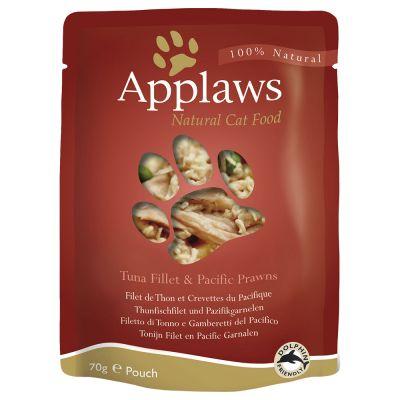 Applaws-kissanruoka 12 x 70 g - kananrinta & villiriisi