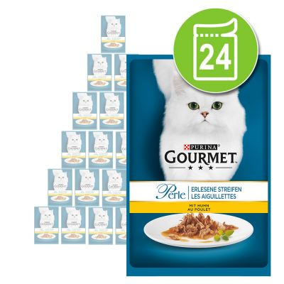 Gourmet Perle -tuorepussit 24 x 85 g - kana
